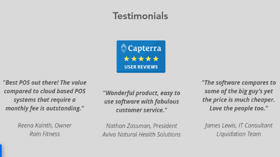 website testimonials example