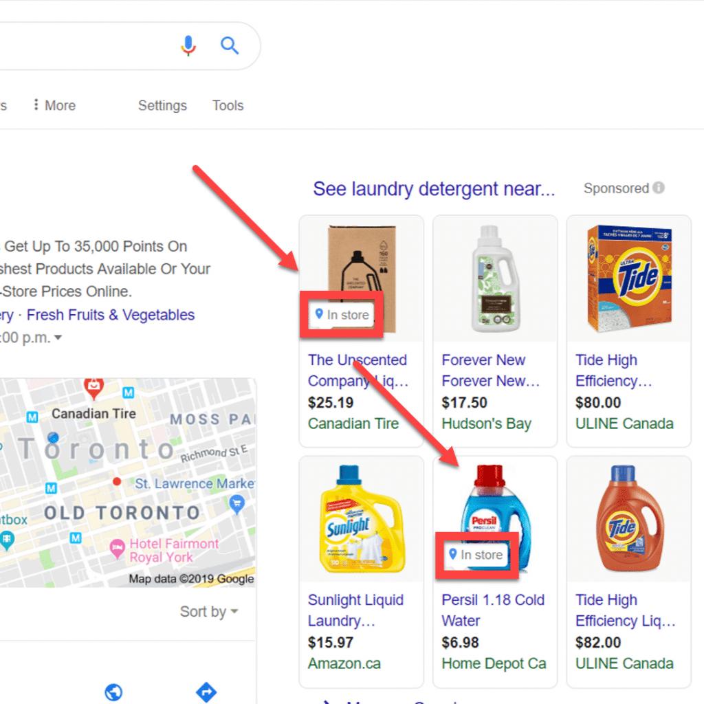 Google LIA example