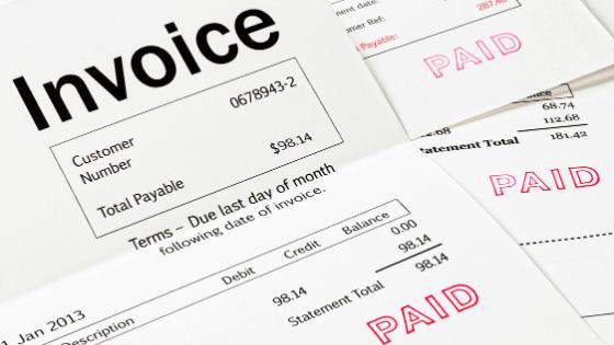 customer invoices