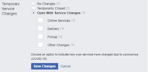 Facebook COVID-19 Update
