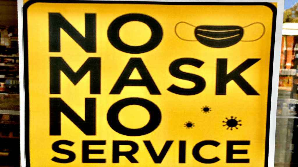 no mask no service sign