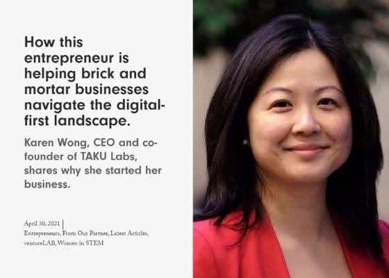 Women of Influence - TAKULabs Karen Wong